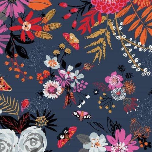 Full Moon Blue Floral - Priced by the Half Yard - Expected June 2021 - brewstitched.com