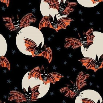Full Moon Bats - Priced by the Half Yard - Expected June 2021 - brewstitched.com