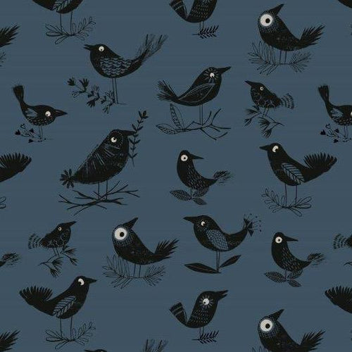 Full Moon Crows - Priced by the Half Yard - Expected June 2021 - brewstitched.com
