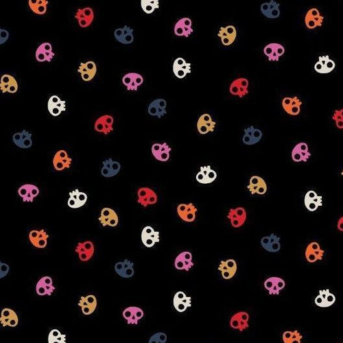Full Moon Skulls on Black - Priced by the Half Yard - Expected June 2021 - brewstitched.com