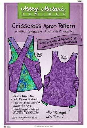 Crisscross Apron Paper Pattern from Mary Mulari Designs - brewstitched.com