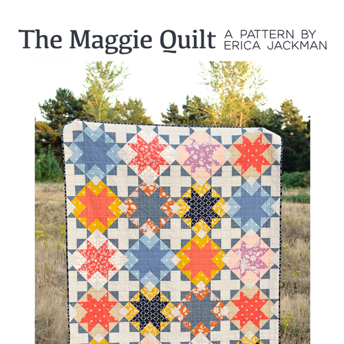 The Maggie Quilt Paper Pattern by Kitchen Table Quilting - brewstitched.com