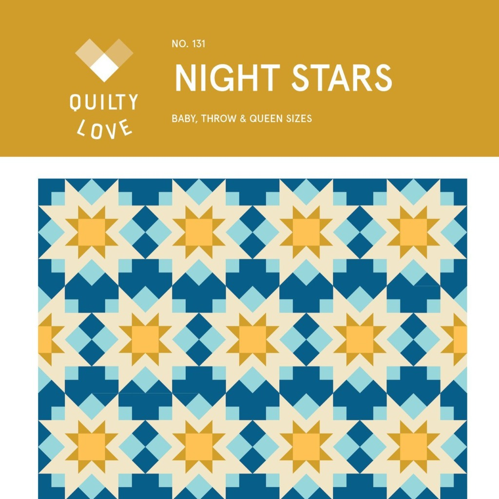 Night Stars Quilt Paper Pattern from Quilty Love - brewstitched.com