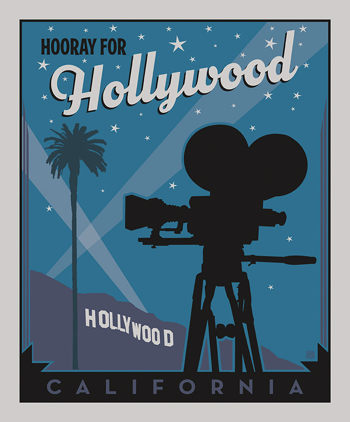 Destinations Poster Panel Hollywood - Priced by the Panel - brewstitched.com