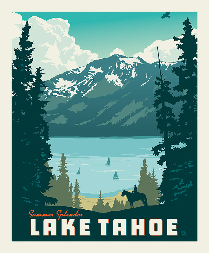 Destinations Poster Panel Lake Tahoe - Priced by the Panel - brewstitched.com
