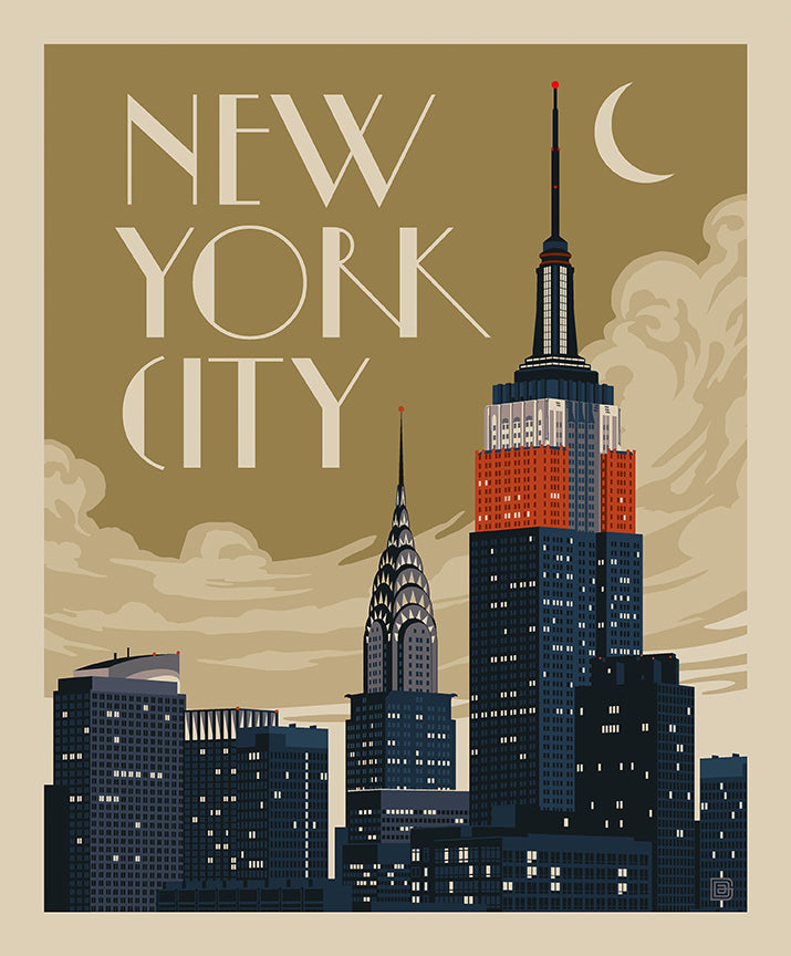 Destinations Poster Panel New York City Skyline - Priced by the Panel - brewstitched.com
