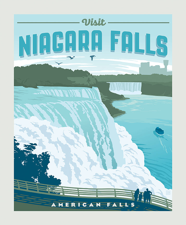Destinations 2 Niagara Falls Poster Fabric Panel - Priced by the Panel