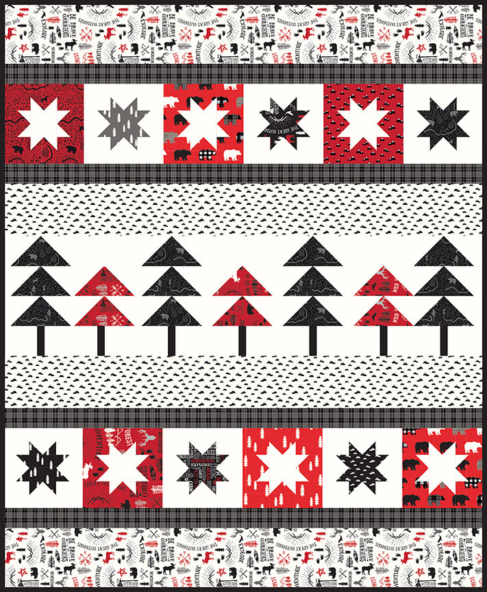 Pine Valley Quilt Paper Pattern - brewstitched.com