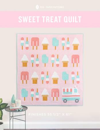 Sweet Treat Quilt Printed Pattern by Pen and Paper Patterns - brewstitched.com