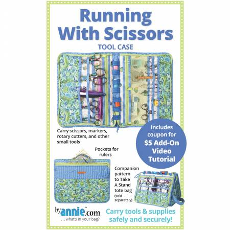 Running with Scissors Tool Case Paper Pattern from By Annie Pattern - brewstitched.com