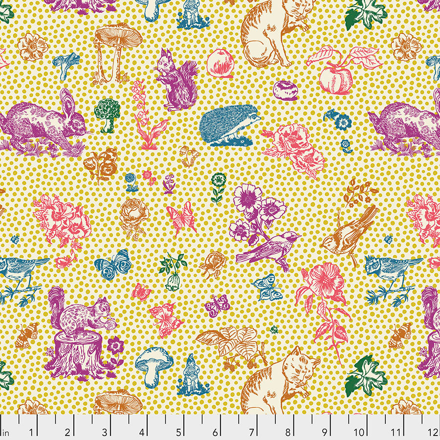 Woodland Walk In My Garden Soleil - Priced by the half yard - Coming Jan 2020 - brewstitched.com