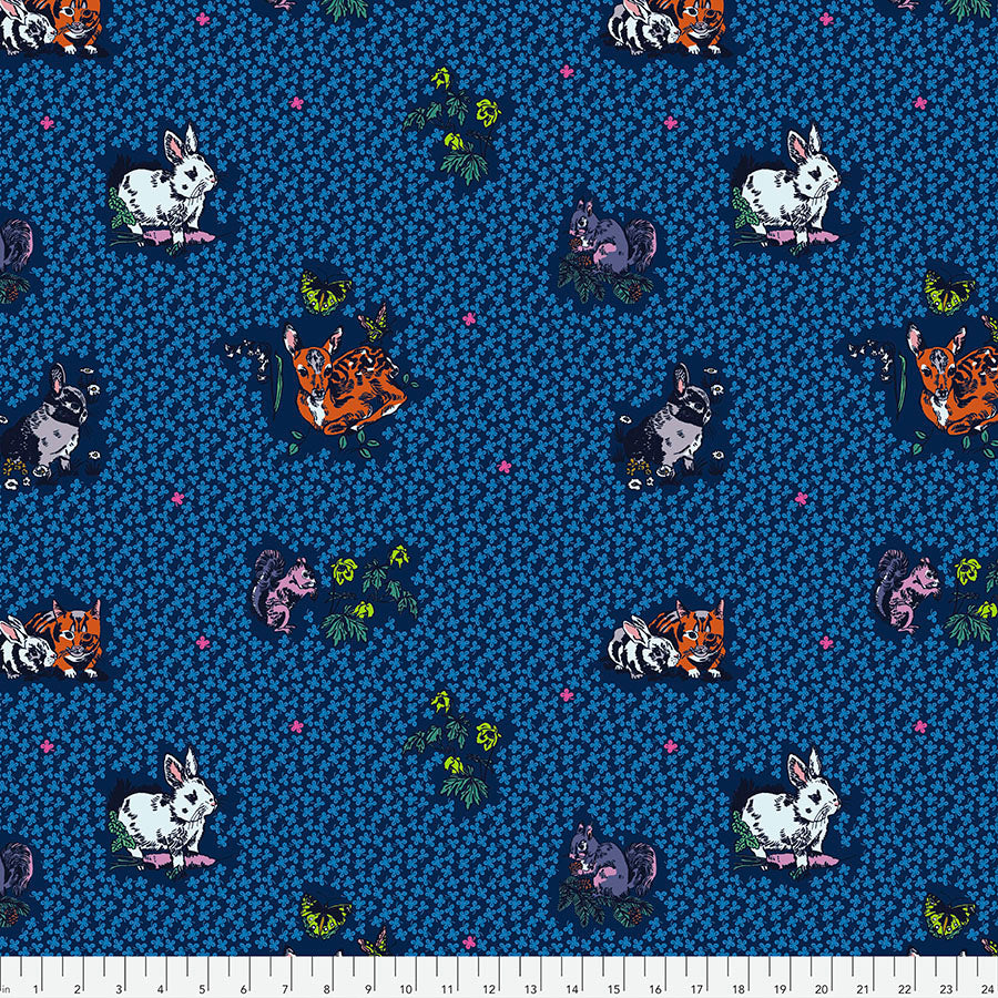 Woodland Walk Lucky Animals Night - Priced by the half yard - Coming Jan 2020 - brewstitched.com