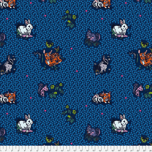 Woodland Walk Lucky Animals Night - Priced by the half yard - Expected Jan 2021 - brewstitched.com
