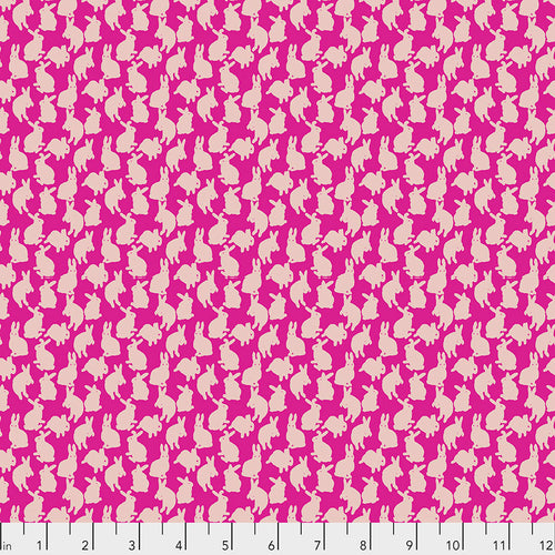 Woodland Walk Mini Rabbits Fuchsia - Priced by the half yard - Expected Jan 2021 - brewstitched.com