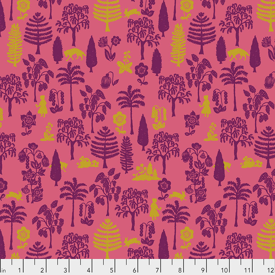 Woodland Walk Nearby Wolf Coral - Priced by the half yard - Coming Jan 2020 - brewstitched.com
