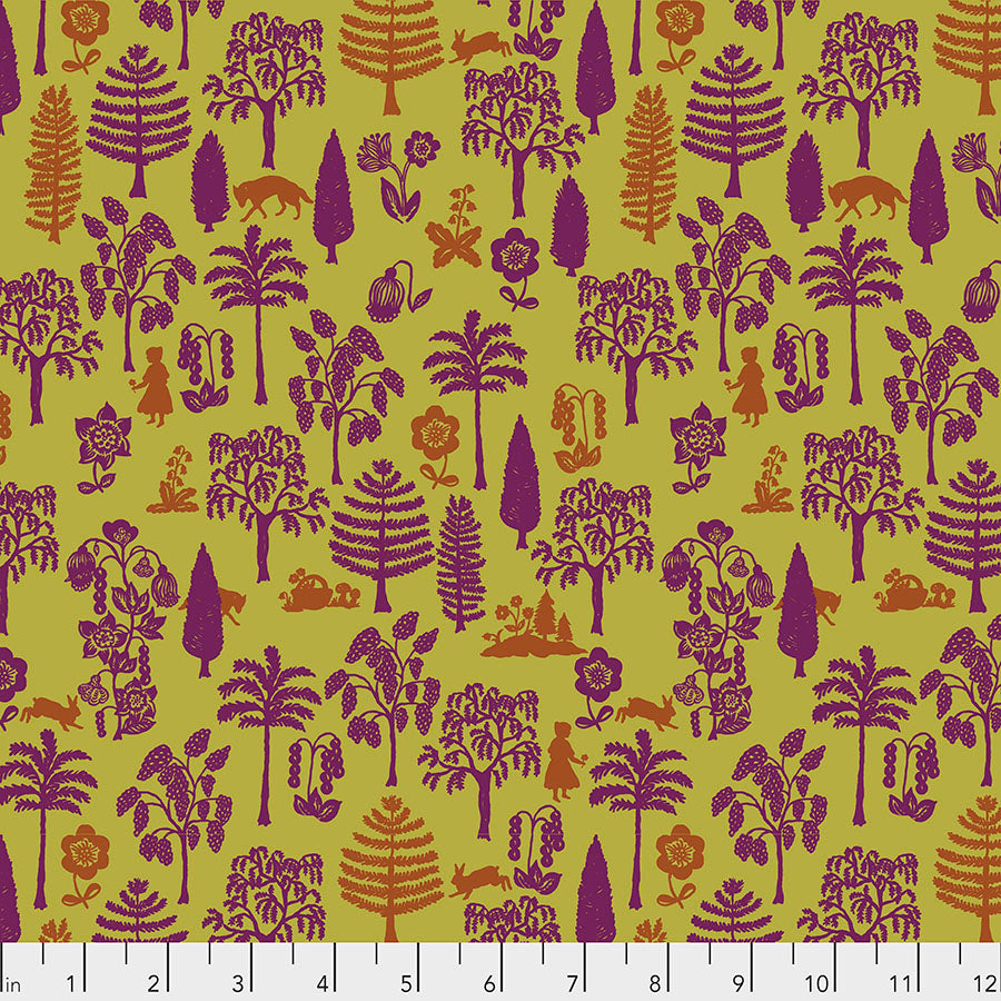 Woodland Walk Nearby Wolf Olive - Priced by the half yard - Coming Jan 2020 - brewstitched.com