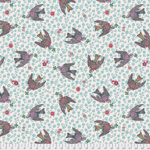 Woodland Walk The Swallows Rose - Priced by the half yard - Coming Jan 2020 - brewstitched.com