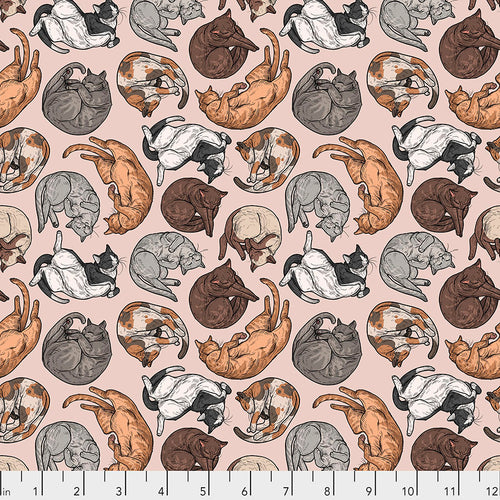 Cat Tales Cat Nap Natural - Priced by the half yard - brewstitched.com