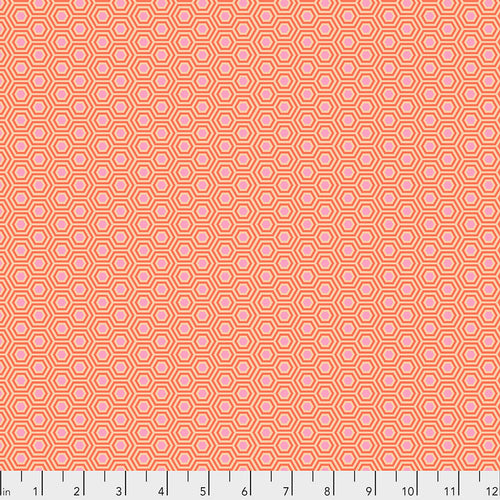 Tula's True Colors Hexy Peach Blossom - Priced by the Half Yard - brewstitched.com
