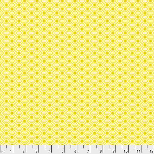 Tula's True Colors Hexy Sunshine - Priced by the Half Yard - brewstitched.com