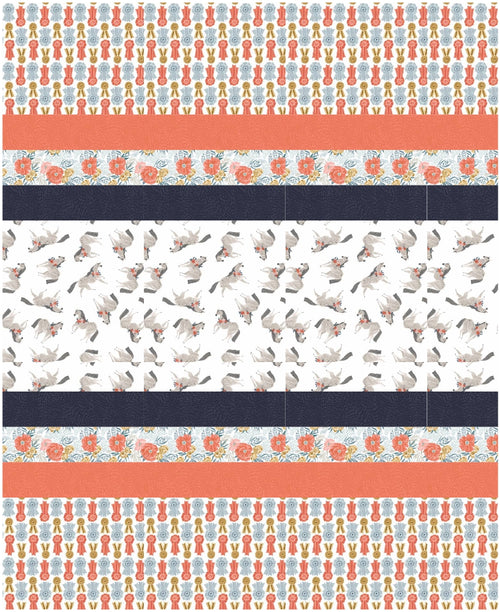 Poppy Prairie Strip Quilt Kit
