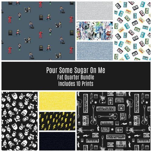 Pour Some Sugar on Me Fat Quarter Bundle - brewstitched.com
