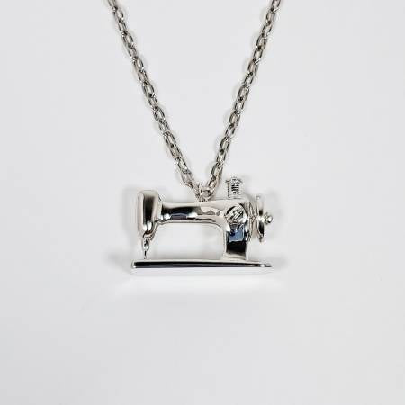 Sewing Machine Silver Pendant - brewstitched.com