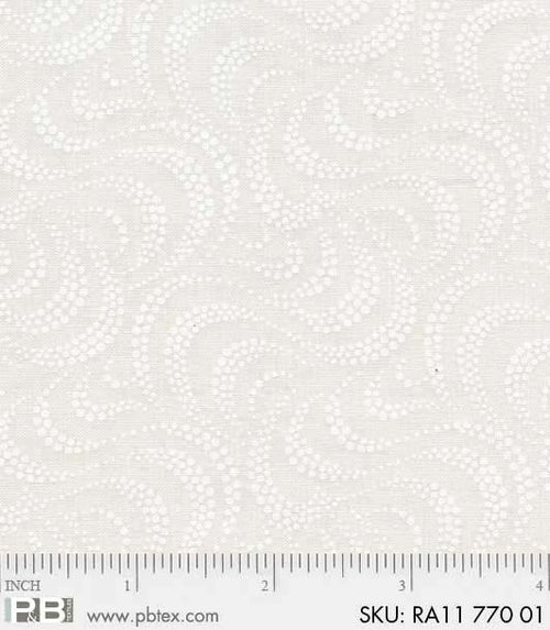 Ramblings Basic White on White Swirls - Priced by the Half Yard - brewstitched.com