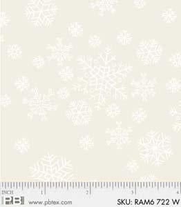Ramblings Basic White on Cream Snowflakes - Priced by the Half Yard - brewstitched.com