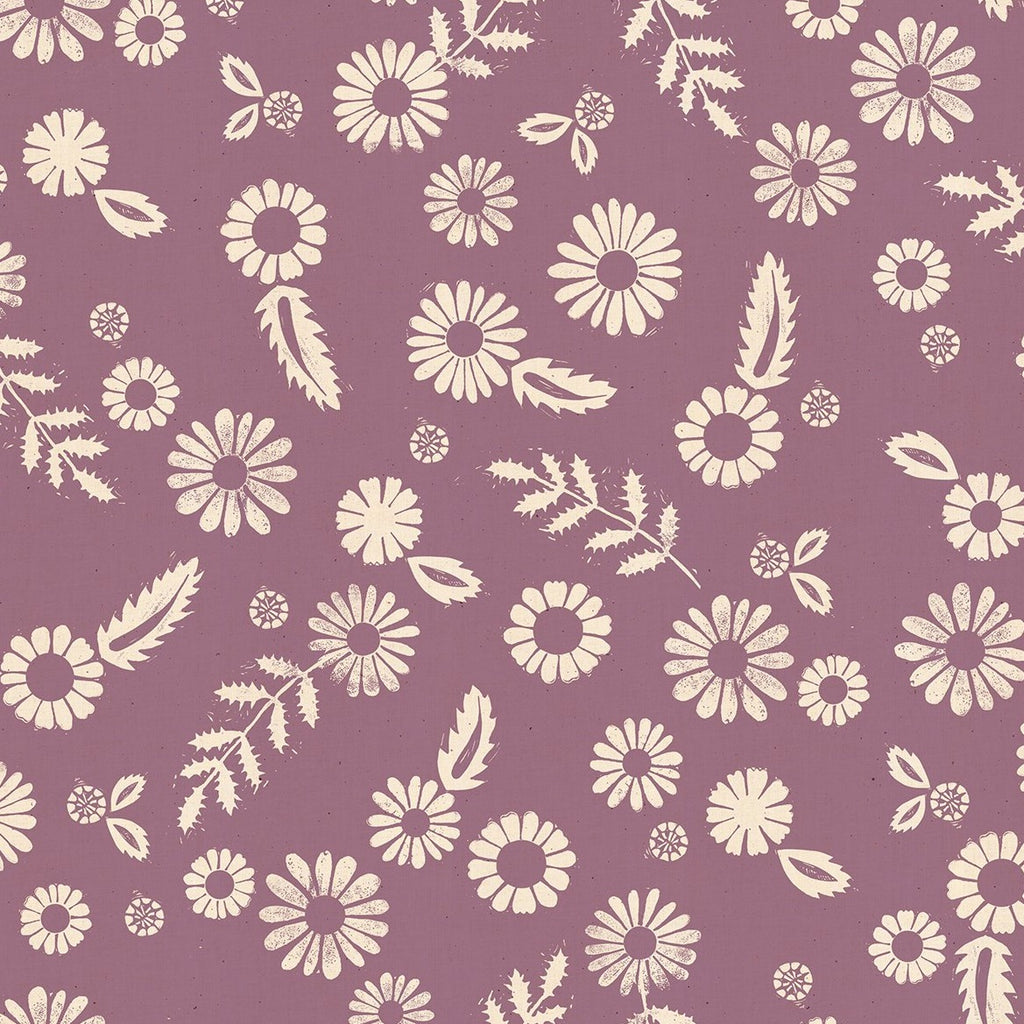 Golden Hour Daisy Lilac - Priced by the half yard - Coming Nov 2020 - brewstitched.com