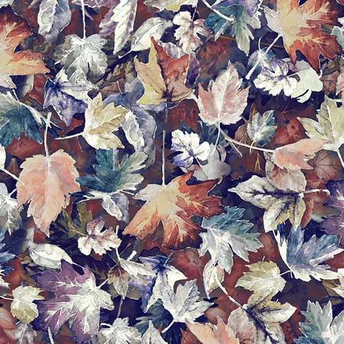 Woodland Whispers Leaves - Priced by the Half Yard - brewstitched.com