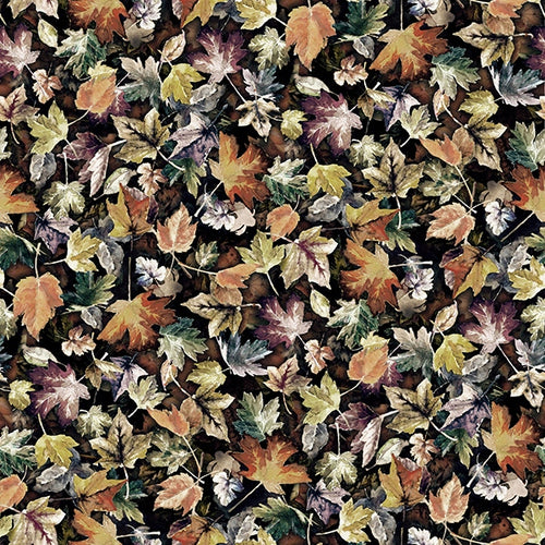 Woodland Whispers Leaves Autumn - Priced by the Half Yard - brewstitched.com