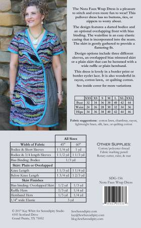Nora Faux Wrap Dress Paper Pattern from Serendipity Studio - brewstitched.com
