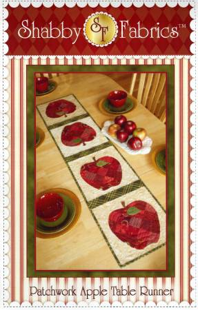 Patchwork Apple Table Runner Quilt Pattern from Shabby Fabrics - brewstitched.com