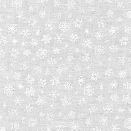 Mini Madness White Snowflakes - Priced by the Half Yard - brewstitched.com
