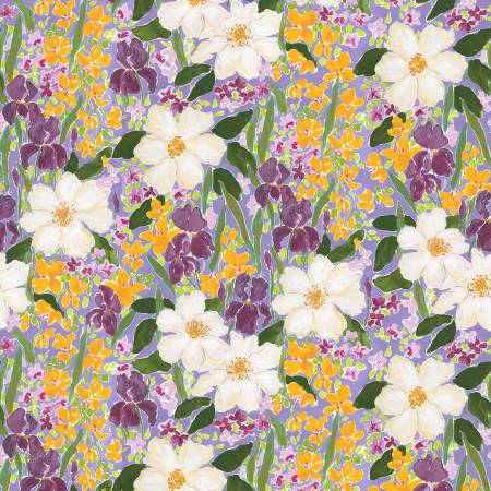 Mardi Gras Floral - Priced by the half yard - brewstitched.com