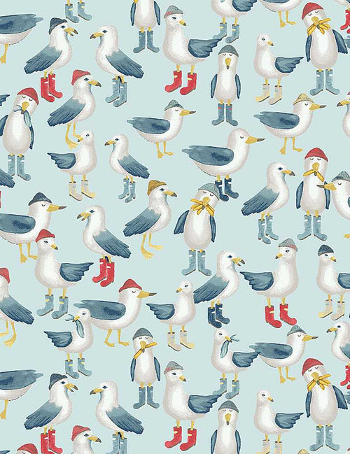 Hook, Line & Sinker Flock of Seagulls - Priced by the Half Yard - Expected Feb 2021 - brewstitched.com