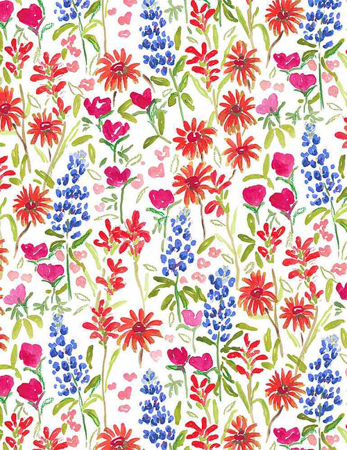 American Summer Texas Wildflower - Priced by the Half Yard - Expected June 2021 - brewstitched.com
