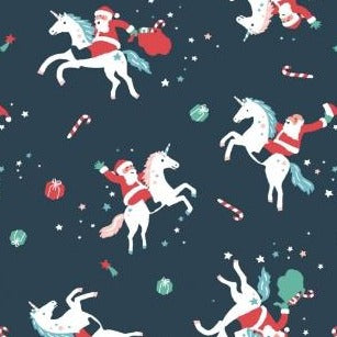 Sparkle All The Way Rodeo Santa - Priced by the Half Yard - brewstitched.com