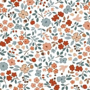 Country Mouse Autumn Floral in White - Coming July 2020 - brewstitched.com