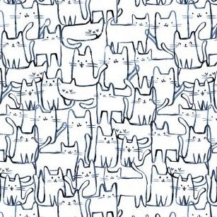 Creative Cats Wait a Meow-ment - Priced by the Half Yard - brewstitched.com