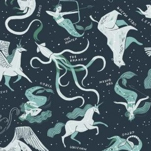 PREORDER - Mythical Constellations - Priced by the Half Yard - SHIPS March 2020 - brewstitched.com