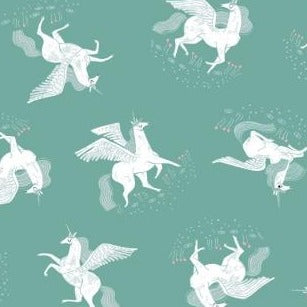 PREORDER - Mythical Tossed Unicorns - Priced by the Half Yard - SHIPS March 2020 - brewstitched.com