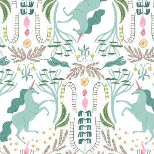 PREORDER - Mythical Unicorn Toile - Priced by the Half Yard - SHIPS March 2020 - brewstitched.com