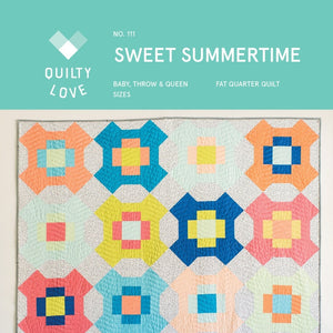 Sweet Summertime Quilt Paper Pattern from Quilty Love - brewstitched.com