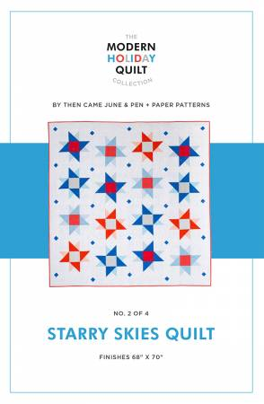Starry Skies Quilt Printed Pattern by Pen and Paper Patterns - brewstitched.com