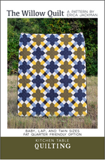 The Willow Quilt Paper Pattern from Kitchen Table Quilting - brewstitched.com