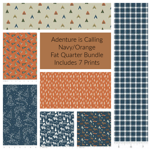 Adventure is Calling Navy Fat Quarter Bundle - Expected June 2021 - brewstitched.com