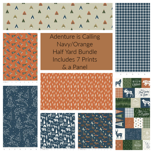 Adventure is Calling Navy Half Yard Bundle - Expected June 2021 - brewstitched.com
