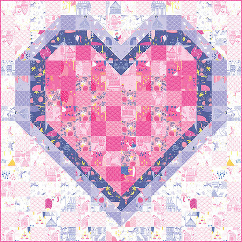 All of My Heart Quilt Paper Pattern by Stacy Iest Hsu - brewstitched.com